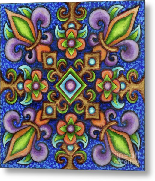 Botanical Mandala 3 Metal Print