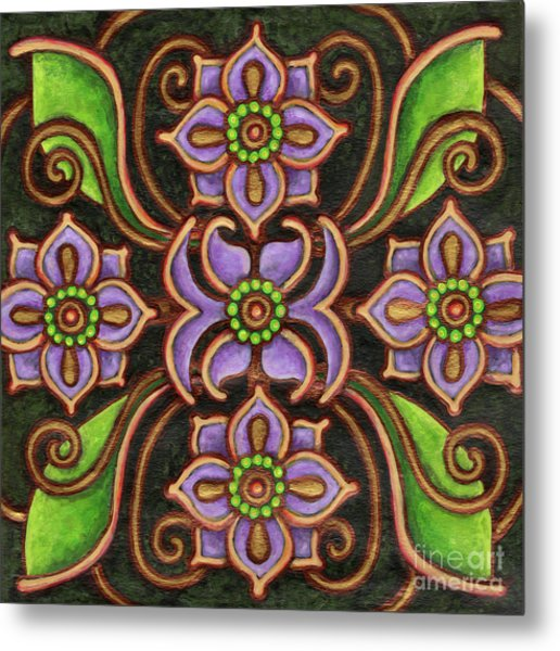 Botanical Mandala 6 Metal Print