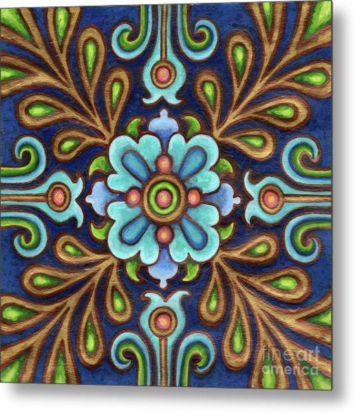 Botanical Mandala 9 Metal Print