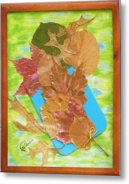 Bouquet From Fallen Leaves Metal Print
