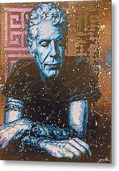 Bourdain - The Parts Unknown Metal Print by Bobby Zeik
