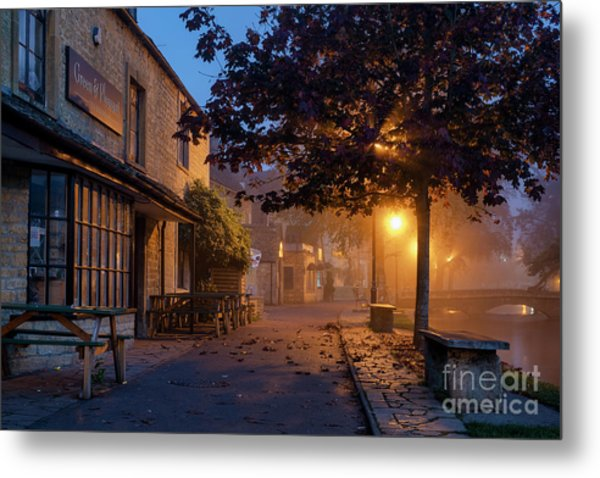 Bourton On The Water October Morning Metal Print by Tim Gainey