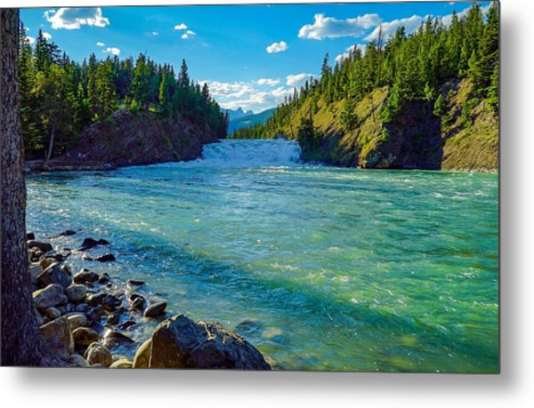 Bow River In Banff Metal Print