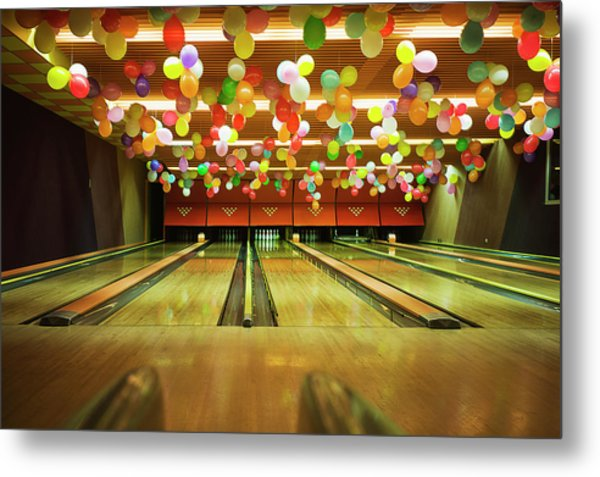 Bowling Metal Print by Olive