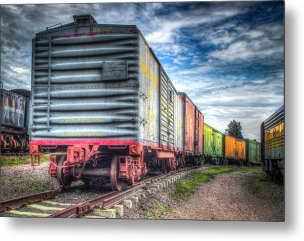 Box Cars Metal Print by G Wigler