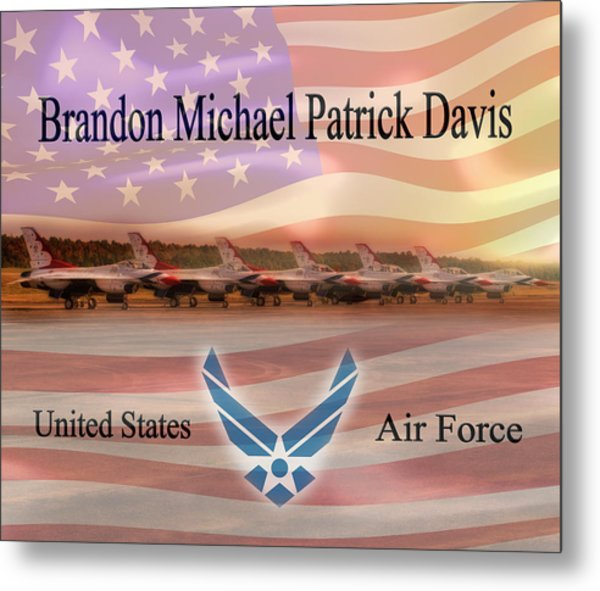 Brandon Fleece Blanket Metal Print