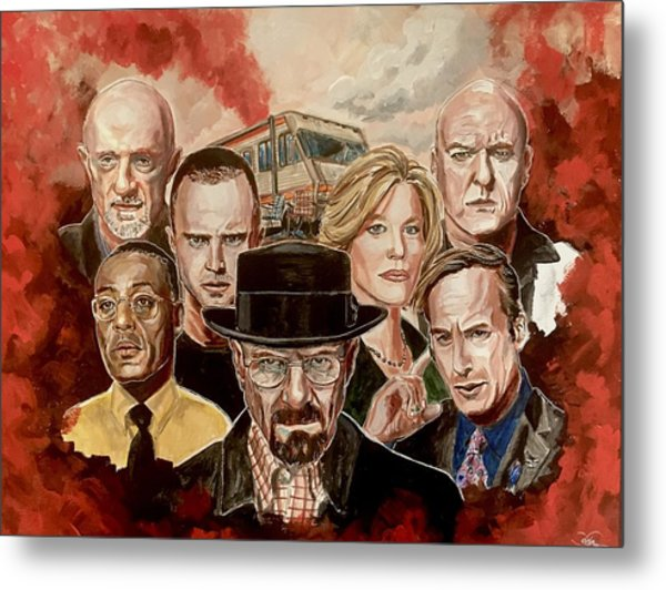 Breaking Bad Family Portrait Metal Print
