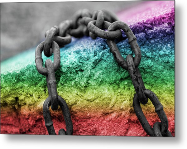 Breaking The Chains Metal Print