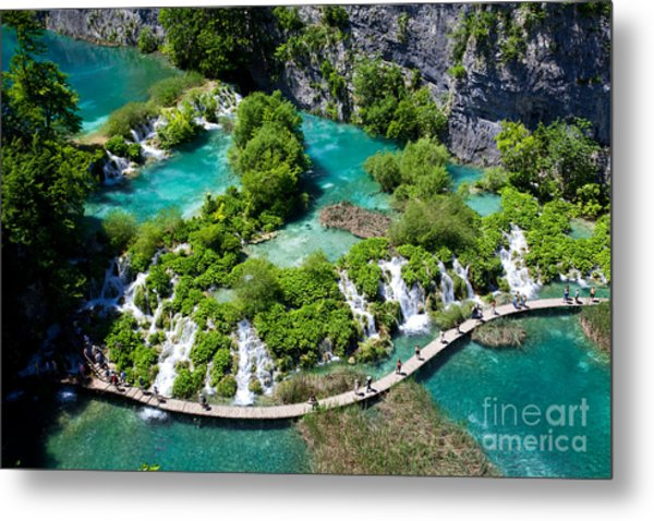 Breathtaking View In The Plitvice Lakes Metal Print