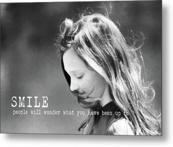 Breeze Quote Metal Print by JAMART Photography