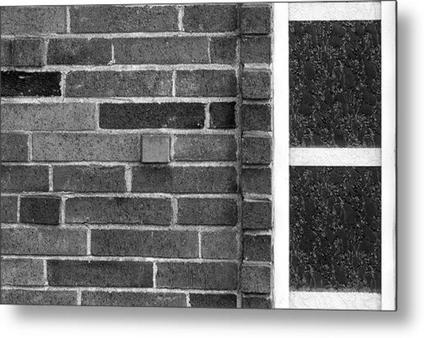 Brick And Glass - 2 Metal Print