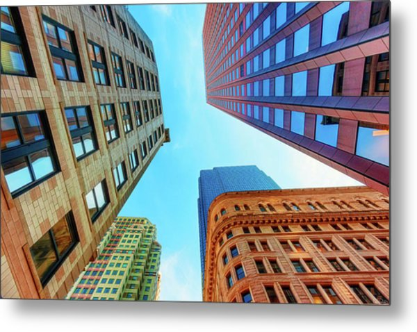 Brick And Mortar Skyward Metal Print