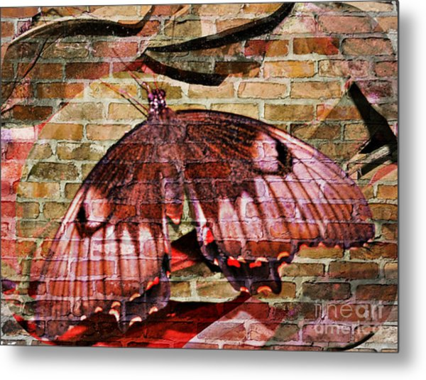 Metal Print featuring the mixed media Brick In The Wall by Sabine ShintaraRose