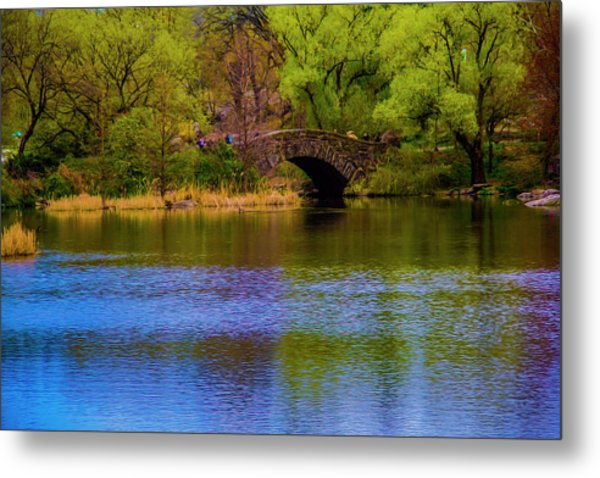 Bridge In Central Park Metal Print