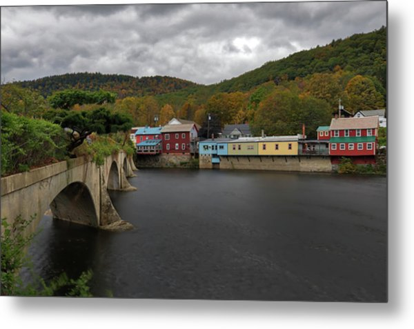 Metal Print featuring the photograph Bridge Of Flowers by Juergen Roth