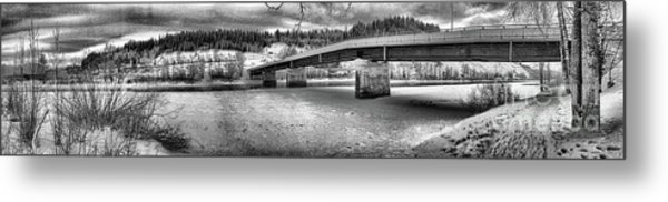 Bridge Over Frozen Waters Metal Print