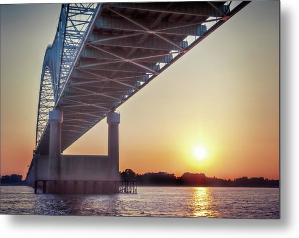 Bridge Over Mississippi River Metal Print
