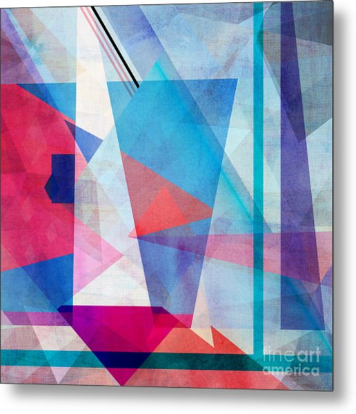 Bright Colorful Abstract Background Of Metal Print