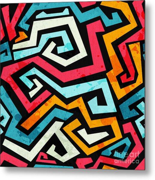 Bright Graffiti Seamless Pattern With Metal Print