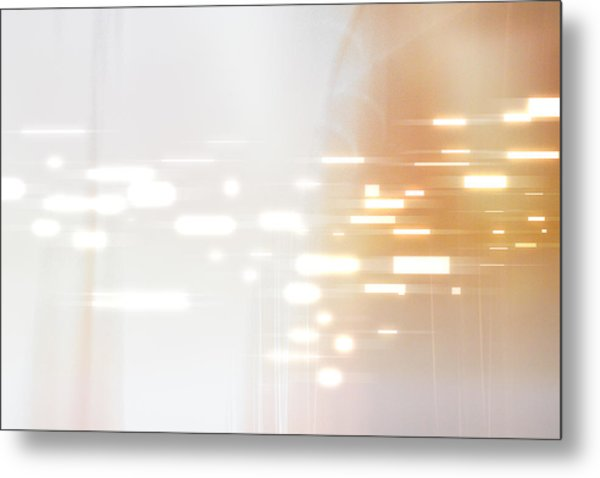 Bright Lights Abstract Metal Print
