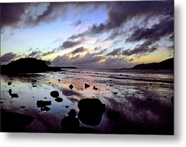 Bright Mirror Of Sunset Light Metal Print