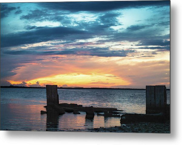 Broken Sunset Metal Print