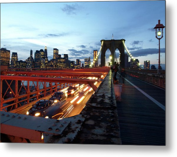 Metal Print featuring the photograph Brooklyn Bridge by Edward Lee