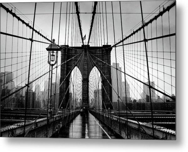 Brooklyn Bridge Metal Print by Serhio.com Photography By Sergei Yahchybekov