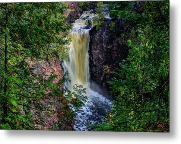 Brownstone Falls Metal Print