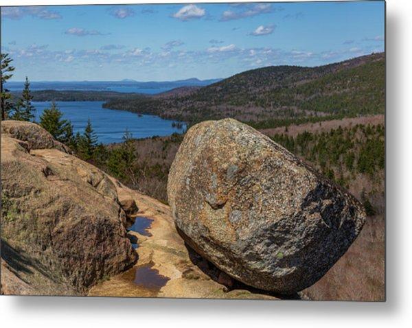 Acadia Np - Bubble Rock Metal Print
