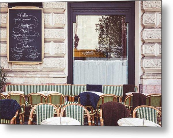 Budapest Cafe Metal Print