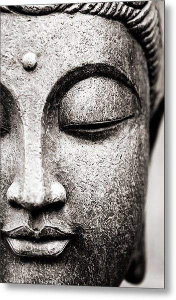 Buddha Face Metal Print by Maodesign