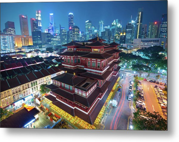 Buddha Tooth Relic Temple Metal Print