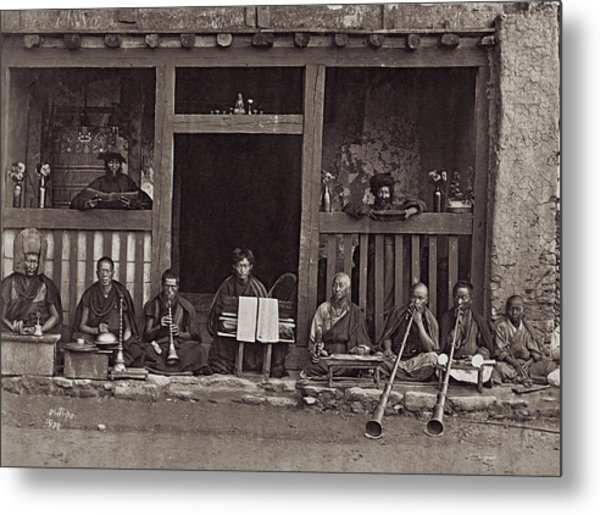 Buddhist Music Metal Print by Henry Guttmann Collection