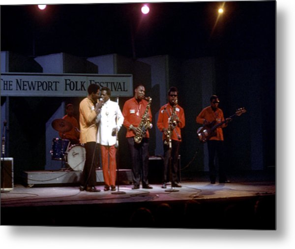 Buddy Guy And Junior Wells At Newport Metal Print by Michael Ochs Archives
