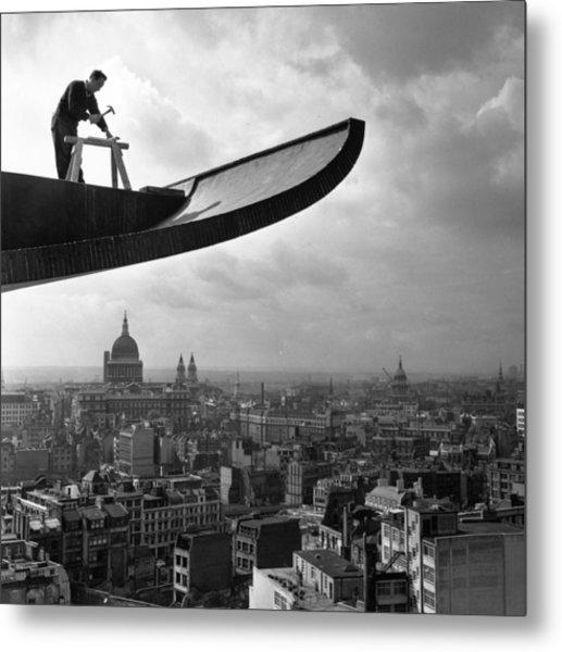 Building Above London Metal Print