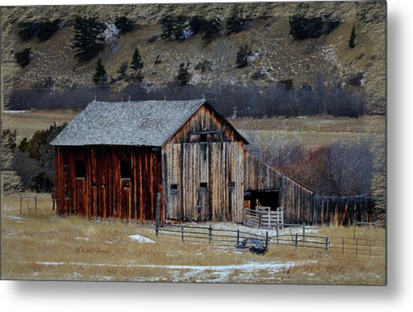Building On Hold  Metal Print