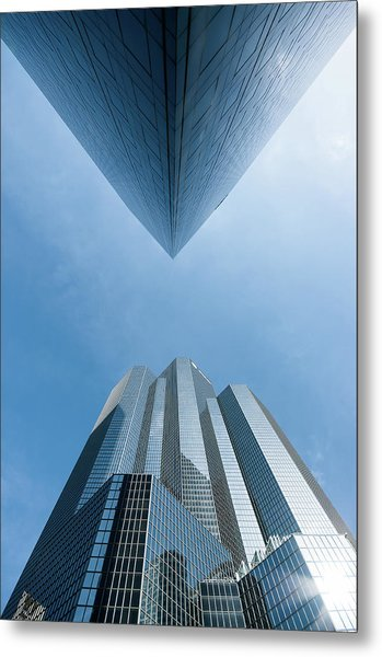 Buildings Face To Face Metal Print by © Philippe Lejeanvre