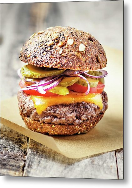 Burger Metal Print by Claudia Totir