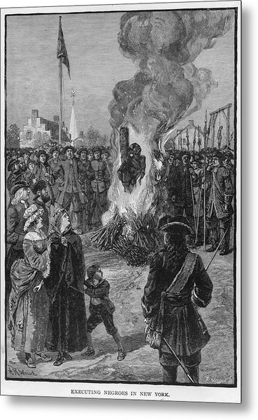 Burning Slaves At The Stake Metal Print by Kean Collection