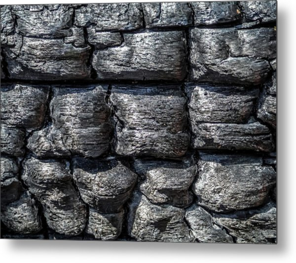 Metal Print featuring the photograph Burnt Wood 1 by Dawn Richards