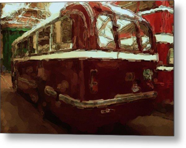 Bus 101 Painting Metal Print