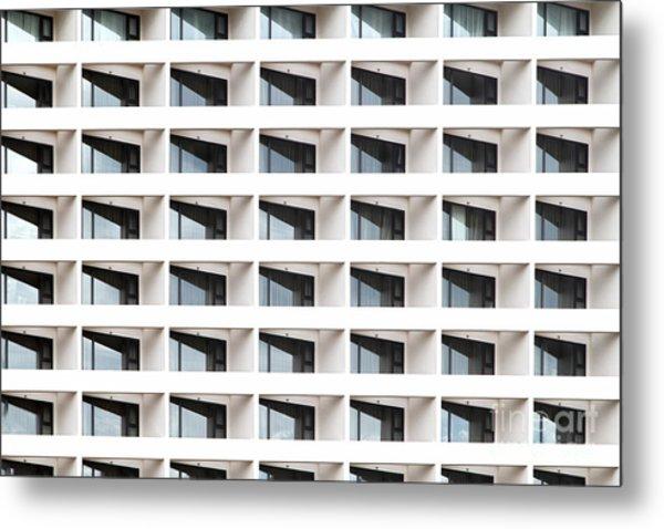 Business Building Windows Metal Print