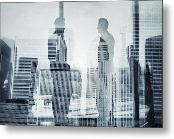 Business In The City Metal Print by Xavierarnau