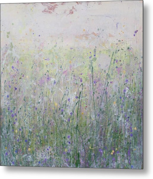 Buttercups And Bluebells Metal Print