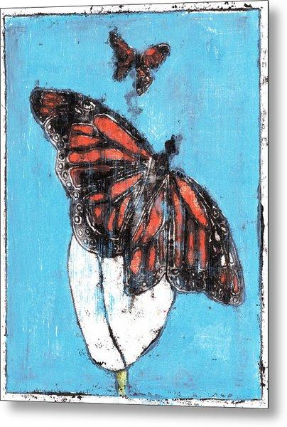 Butterfly Garden Summer 1 Metal Print