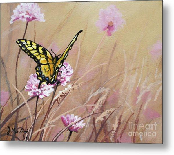 Butterfly Meadow - Part 1 Metal Print