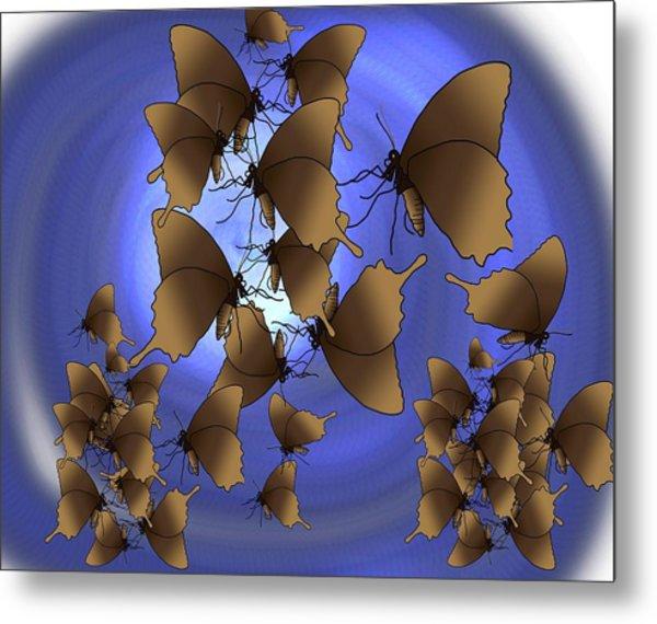 Butterfly Patterns 13 Metal Print