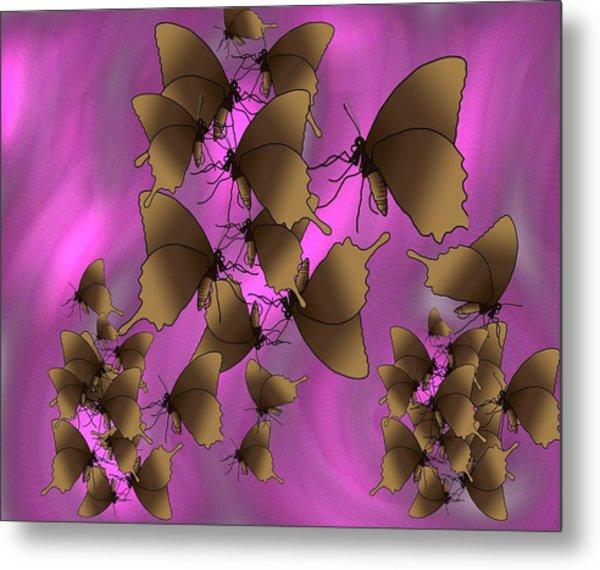 Butterfly Patterns 17 Metal Print