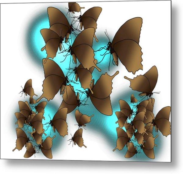 Butterfly Patterns 9 Metal Print